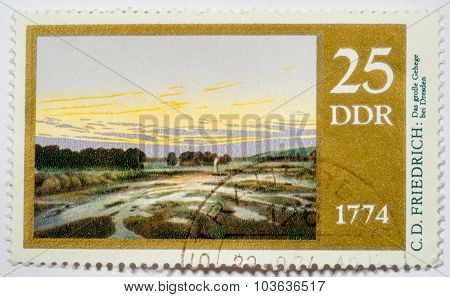 Moscow, Russia - October 3, 2015: A Stamp Printed In Germany (gdr) Shows Stamp