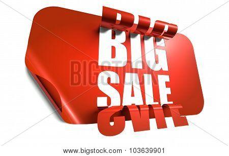 Big Sale Concept, Cut Out In Sticker
