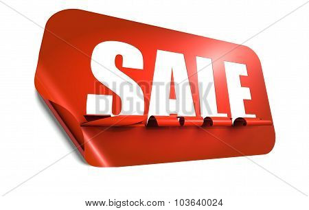 Sale Concept, Cut Out In Sticker