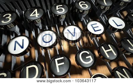 Typewriter With Novel Buttons, Vintage