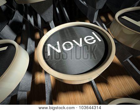 Typewriter With Novel Button, Vintage