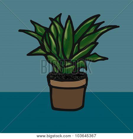 Flower in a pot vector illustration image