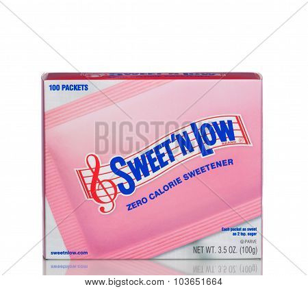 MIAMI, USA - April 21, 2015: A box of Sweet'N Low.