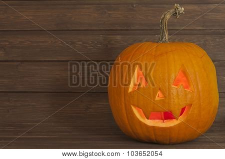 Scary Halloween pumpkin