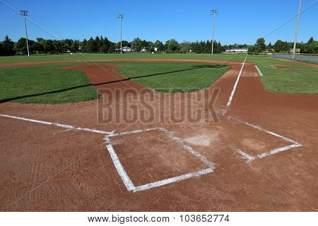 Unoccuppied Baseball Field