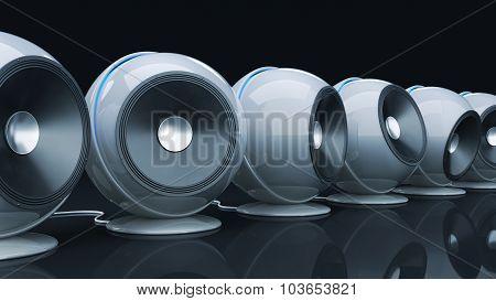 sphere speaker 3D