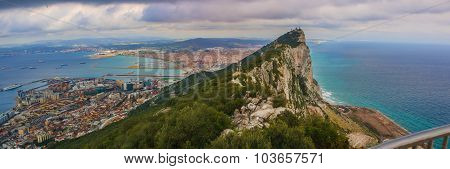 Panoramic View from the Rock of Gibraltar