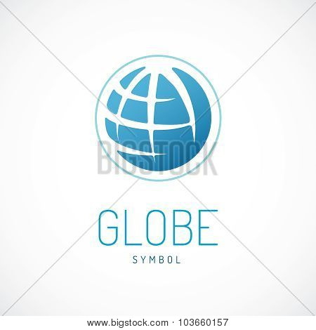 Earth  Logo Template. Globe Sign.
