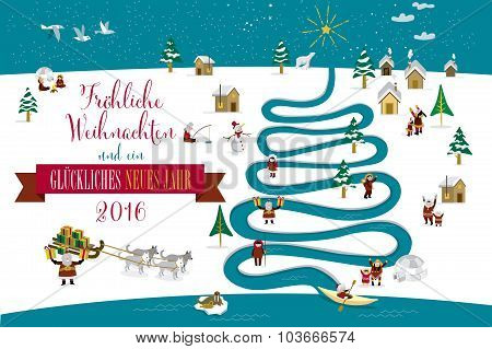 Christmas River Tree 2016 German