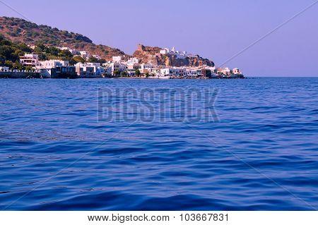town Mandraki on the volcanic island of Nisiros