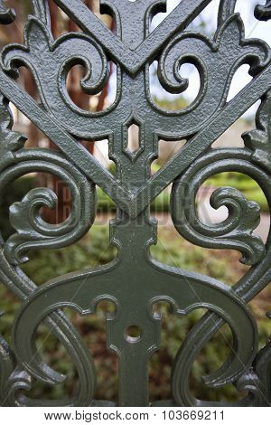 Charleston, South Carolina is famous for their intricate wrought iron fences and gates