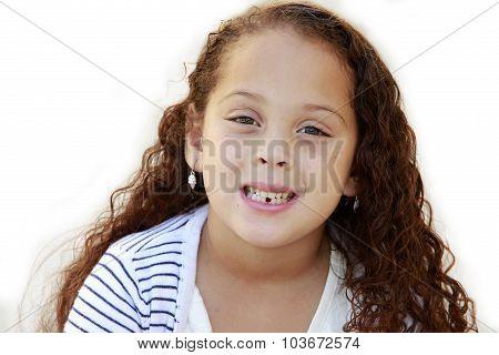 Mixed race girl