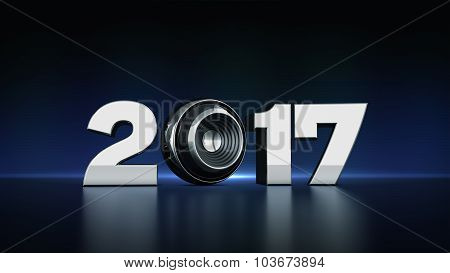 2017 text with sphere speaker 3D