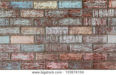Chalk Painted Brick Wall
