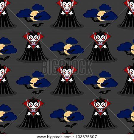 Vampire Seamless Pattern 3