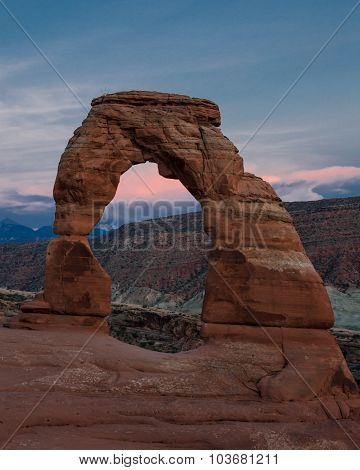Delicate Arch On A Summer Evening