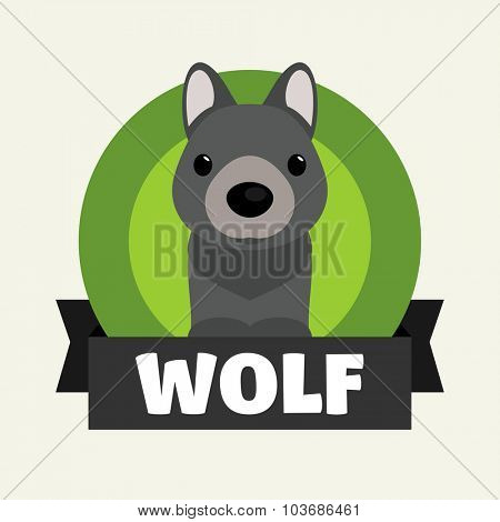 Little Wolf. Vector illustrations