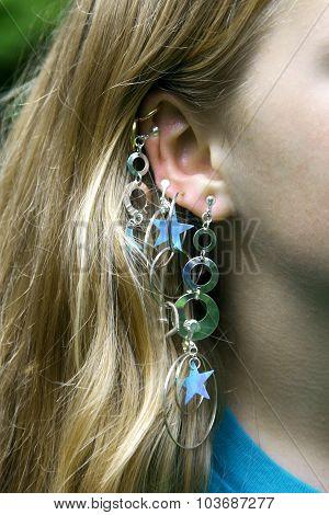Multiple Dangling Earrings