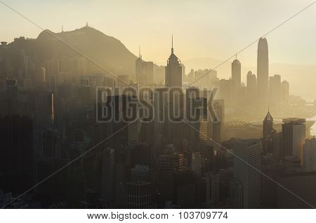 Air Pollution Over Hong Kong Island