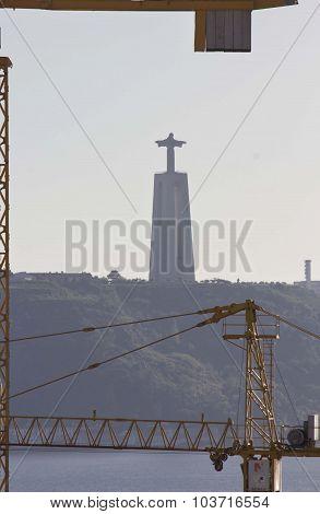 Cristo Rei Seen in Lisbon