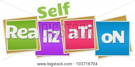Self Realization Colorful Blocks