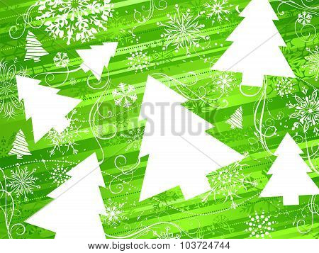 Green Christmas Background.