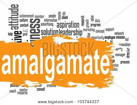 Amalgamate Word Cloud With Orange Banner