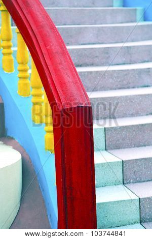 Bangkok In Thailand Incision Of Stairs