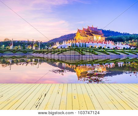 Royal Flora Temple (ratchaphreuk)in Chiang Mai, Thailand