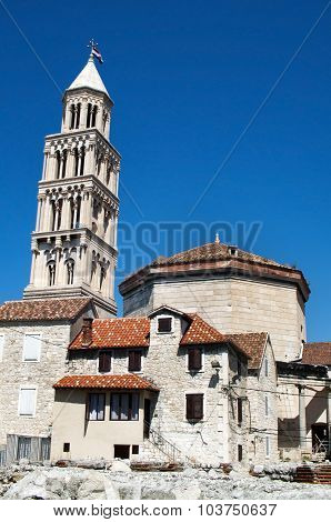 split city croatia cathedral of saint duje landmark architecture poster