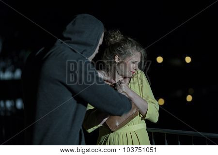 Attacking Young Woman