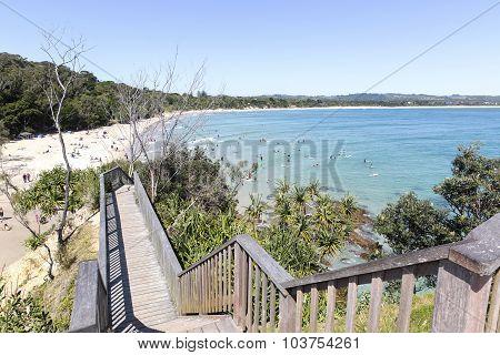 Byron Bay beach viewed Fisherman's Lookout
