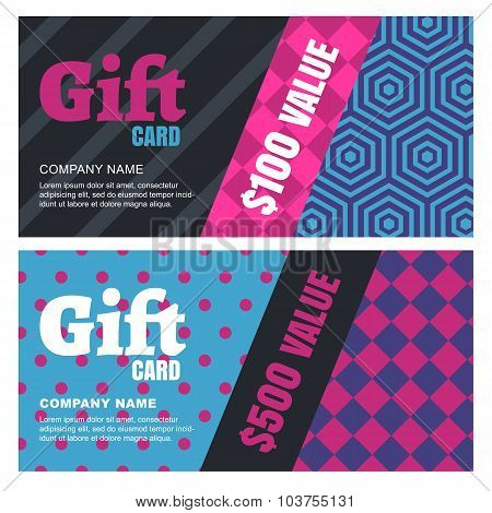 Creative Design For Gift Card Or Voucher.