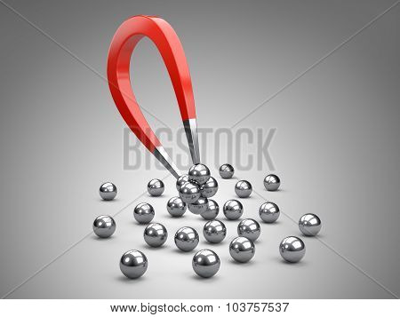 Magnet Attracting Chrome Bearing Ball.