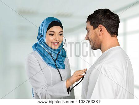 Arabic patient.
