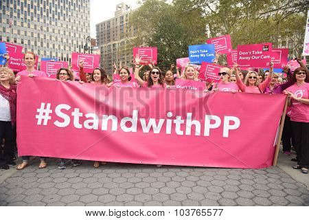 Pink hashtag banner