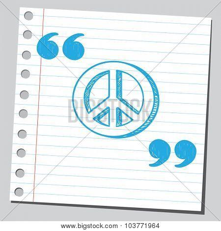 Peace symbol in speech quotes