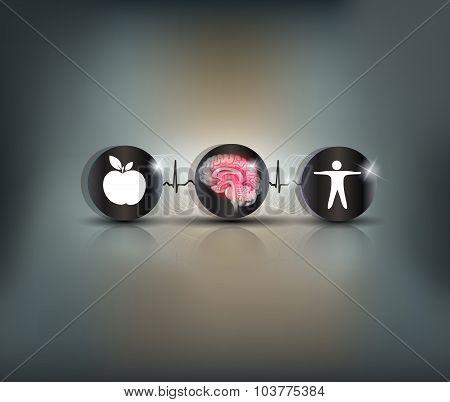 Brain Heath Care Symbol