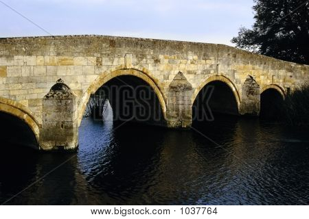 bridge over the river nene northamptonshire midlands england uk poster