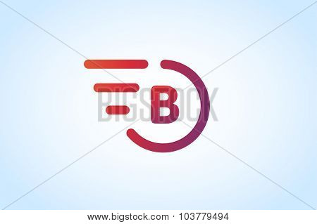 Fast line B letter logo monogram. B and lines monogram. Vector B line letter. B letter design. Abstract B letter. Motion lines b line symbol. Thin line style. Transport delivery b motion icon