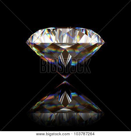 Single big diamond on black