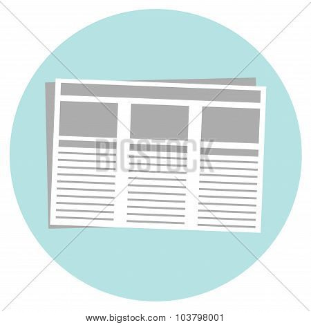 Newspaper isolated icon on white background.