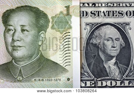 Chinese Yuan On American Dollar