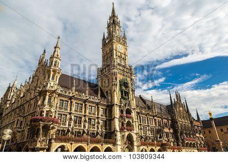 Marienplatz Town Hall In Munich