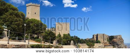 Norman Castle And Venere Castle, Erice