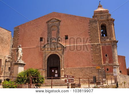 Parish church. Chiesa Parrocchiale di San Giuliano Erice poster