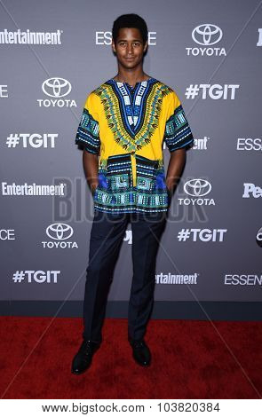 LOS ANGELES - SEP 26:  Alfred Enoch arrives to the TGIT Premiere Red Carpet Event  on September 26, 2015 in Hollywood, CA.