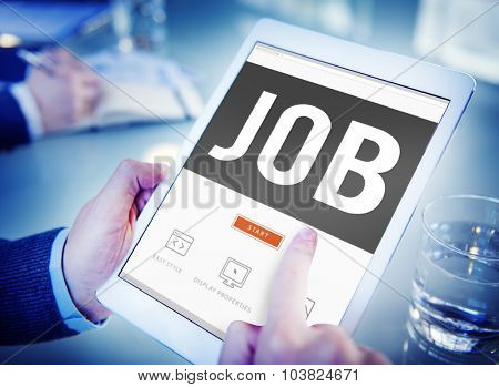 Job Profession Hiring Occupation Employment Concept poster