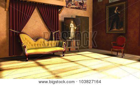 Baroque Portrait Painters Studio