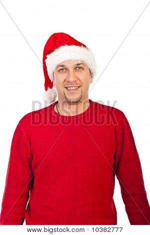 Smiling Mid Adult Santa Claus